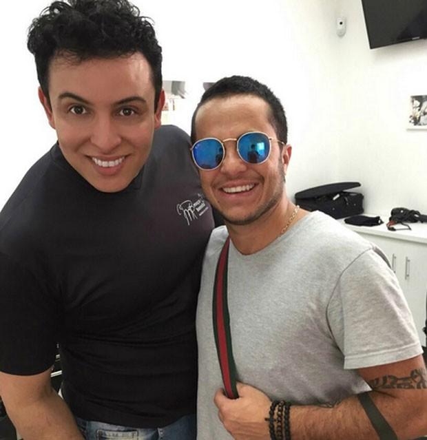 Thammy Miranda com Arillson Christino (Foto: Reprodução)