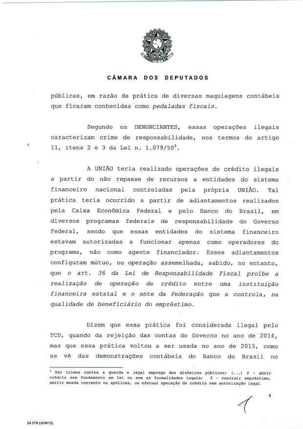 9 - Leia íntegra da decisão de Cunha que abriu processo de impeachment (Foto: Reprodução)