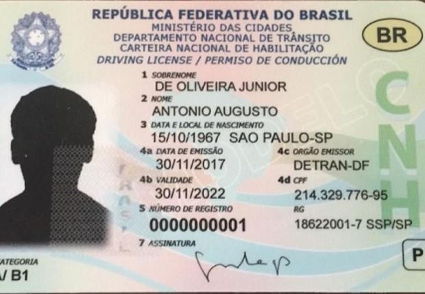 CNH vai mudar novamente e virar um cartão com chip até 2019 (Foto: Divulgação/Denatram)