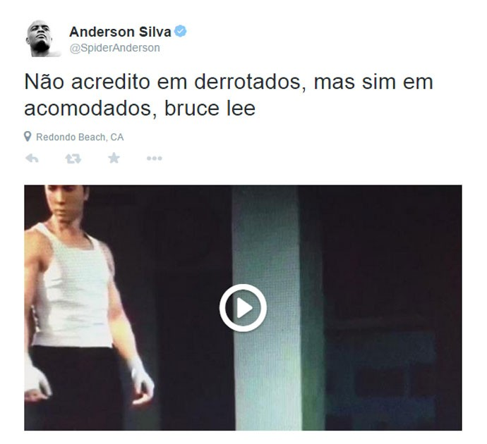 Posts Anderson Silva Twitter