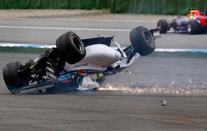 massa acidente formula 1 Hockenheim  alemanha (Foto: Reuters)