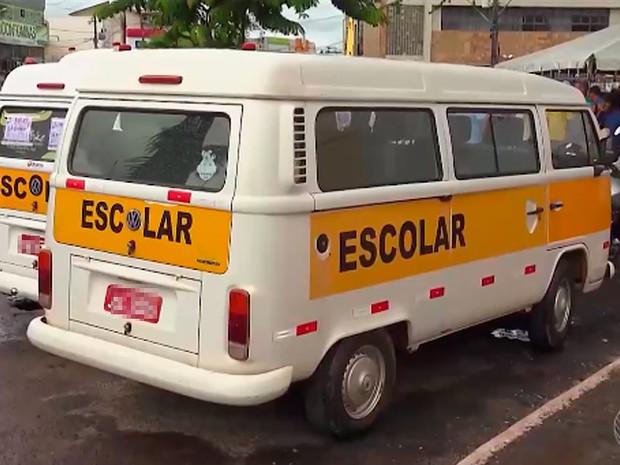 Transporte escolar em Alagoinhas, Bahia (Foto: Reprodução/ TV Subaé)