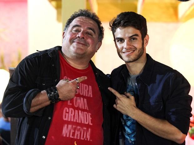 Leo Jaime e Daniel se reencontram em cena (Foto: Malhação / TV Globo)