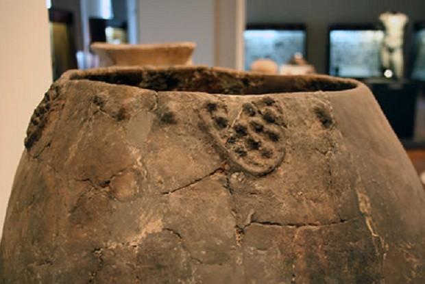 Jarro de cerâmica para produção de vinho no sítio arqueológico Gadachrili Gora (Foto: Divulgação archaeology.utoronto.ca)
