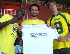 Samuel, Ramon e Vinny, da seleção brasileira de futebol americano (Foto: Arquivo Pessoal)