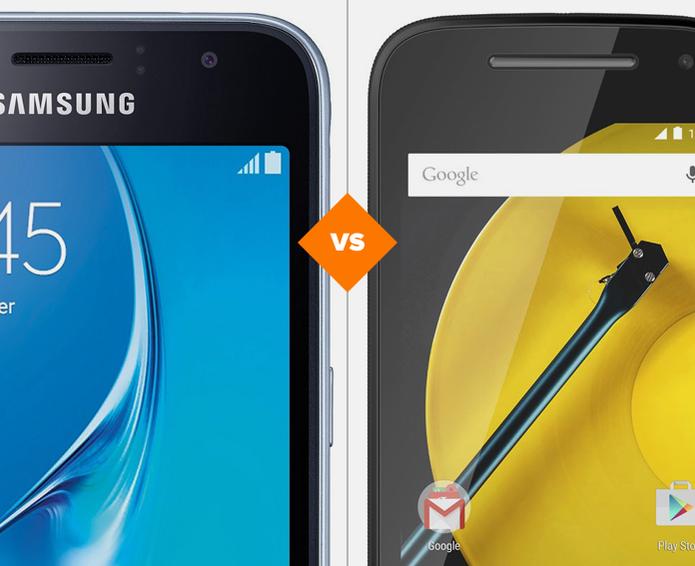 Galaxy J1 e Moto E 2: veja o comparativo de ficha técnica (Foto: Arte/TechTudo)