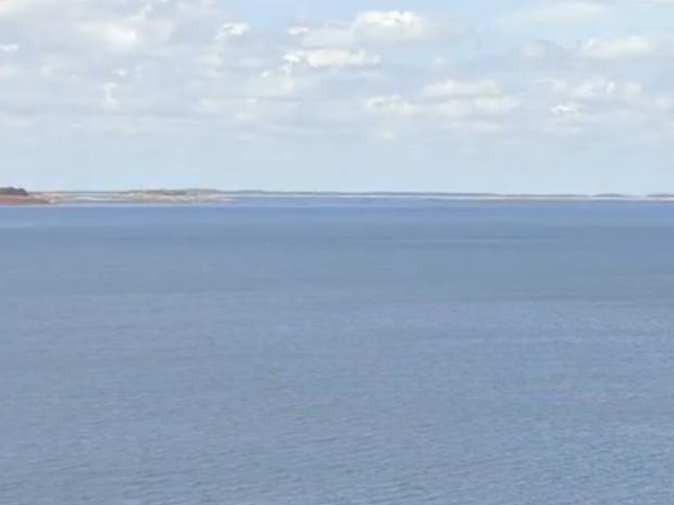 Açude Castanhão está com 39% da capacidade de armazenamento. (Foto: Reprodução/TV Verdes Mares)