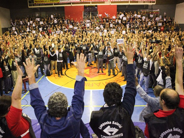 Greve Metrô (Foto: Daniel Teixeira/Agência Estado)