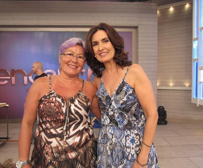 Convidada com a Fátima nos bastidores (Foto: Priscilla Massena/Gshow)