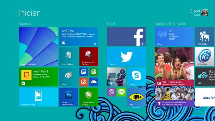Windows 8.1 traz mudanças na interface como a nova tela Iniciar (Foto: Reprodução/Elson de Souza)