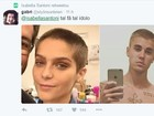 Isabella Santoni raspa cabelo e é comparada a Justin Bieber na web
