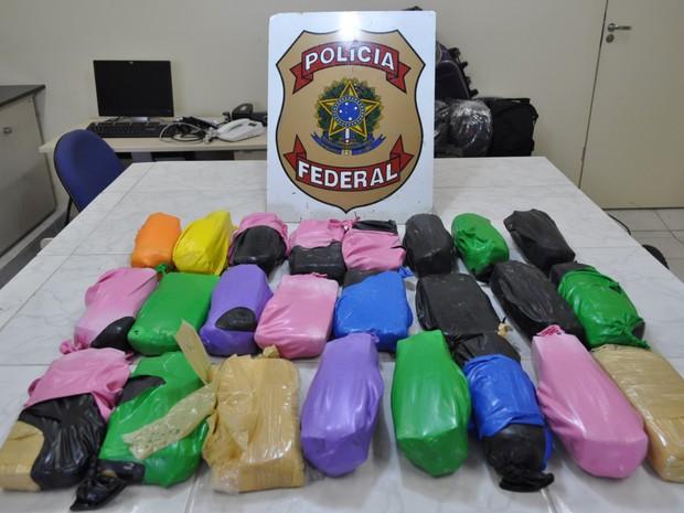 Segundo a PF, daria para fazer 316 mil pedras de crack.  (Foto: Divulgação/ Polícia Federal)