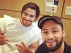 Mariano deixa a UTI e é transferido para o quarto em hospital