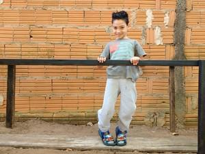 Kauan gosta de se exercitar no equipamento (Foto: Arquivo pessoal)