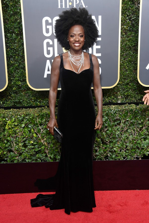 BEVERLY HILLS, CA - JANUARY 07: Actor Viola Davis attends The 75th Annual Golden Globe Awards at The Beverly Hilton Hotel on January 7, 2018 in Beverly Hills, California. (Photo by Frazer Harrison/Getty Images) (Foto: Getty Images)