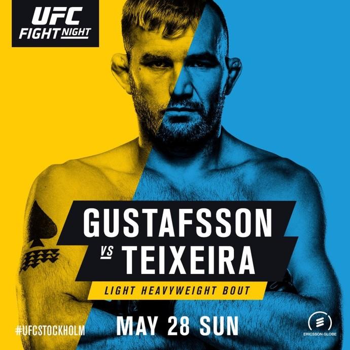 Pôster oficial UFC Suécia (Foto: Reprodução)