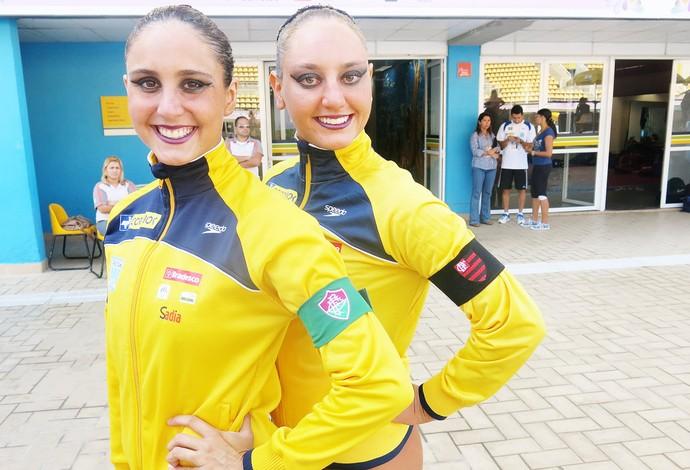 Luisa Borges e Giovana Stephan - dueto brasileiro do nado sincronizado (Foto: Amanda Kestelman)
