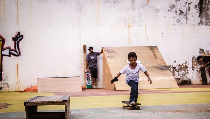 Menor foi o atleta mais novo da competição (Foto: Alysson Vicente/ Arquivo pessoal)