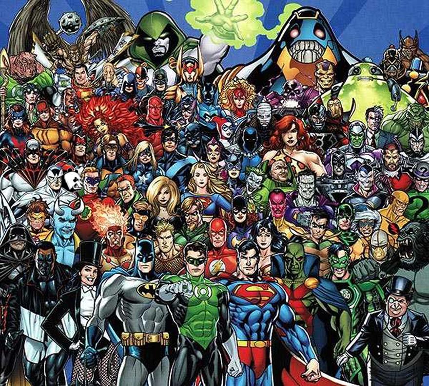 Encontre o panda entre os heróis da DC (FOTO: REPRODUÇÃO/CPDJF)