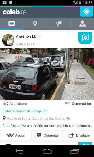 Aplicativo para aparelhos Android, Colab começa a ser usada por prefeituras para coletar reclamações de cidadãos. (Foto: Divulgação/Google)