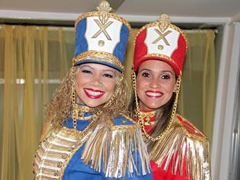 As Paquitas Catia Paganote e Priscilla Couto (Foto: Divulgação)
