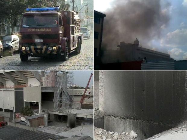 De acordo com o Atlético-PR, ninguém ficou ferido durante o princípio de incêndio (Foto: Reprodução/RPC TV)