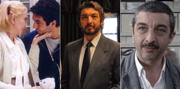 Darín em 'O Filho da Noiva' (2001), 'O Segredo dos Seus Olhos' (2009) e 'Um Conto Chinês' (2011) (Foto: Divulgação)