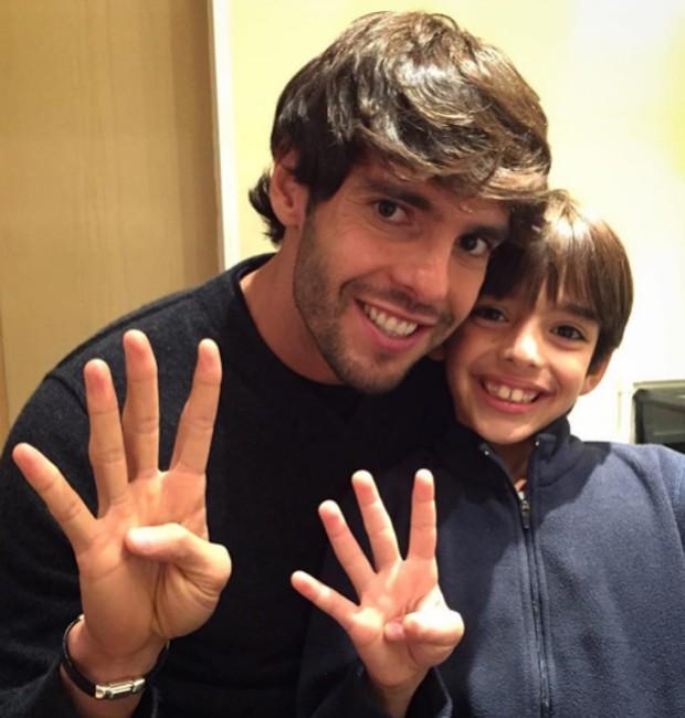 Kaká e Luca (Foto: Reprodução/Instagram)