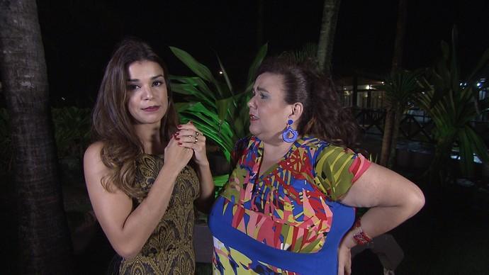 Marizete pede conselhos a Mari Antunes (Foto: TV Bahia)