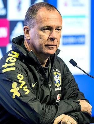 Mano Menezes na coletiva da Seleção (Foto: EFE)