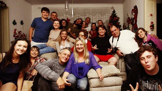 Carlos passa o Natal com a família na casa da avó no PR (Foto: Carlos Rauen/Arquivo pessoal)