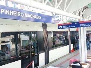 Estação Pinheiro Machado começa a funcionar em Santos  (Foto: Orion Pires/G1)