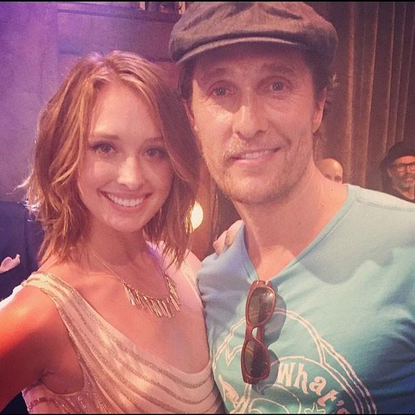 Kayla Radomski e Matthew McConaughey (Foto: Reprodução/Instagram)