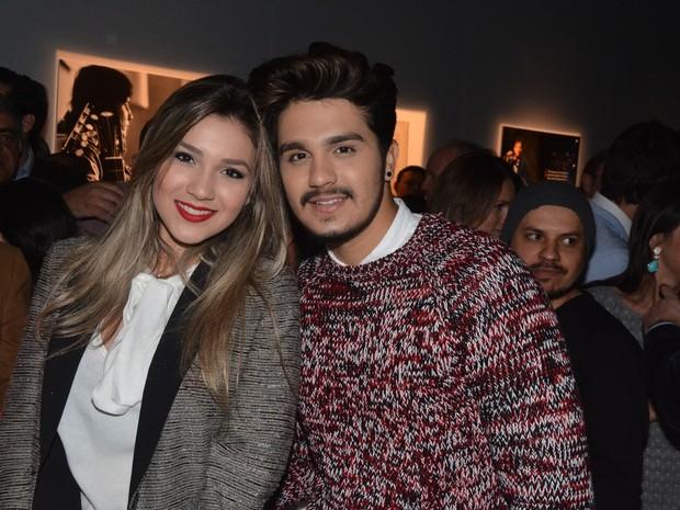 Luan Santana e a irmã Bruna Santana no lançamento do livro de Roberto Carlos (Foto: Caio Duran e Thiago Duran/AgNews)