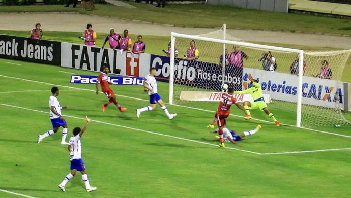 Zé Carlos, atacante do CRB; gol (Foto: Ailton Cruz / Gazeta de Alagoas)