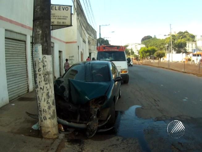 Acidente Vasco da Gama Bahia (Foto: Reprodução/Tv Bahia)