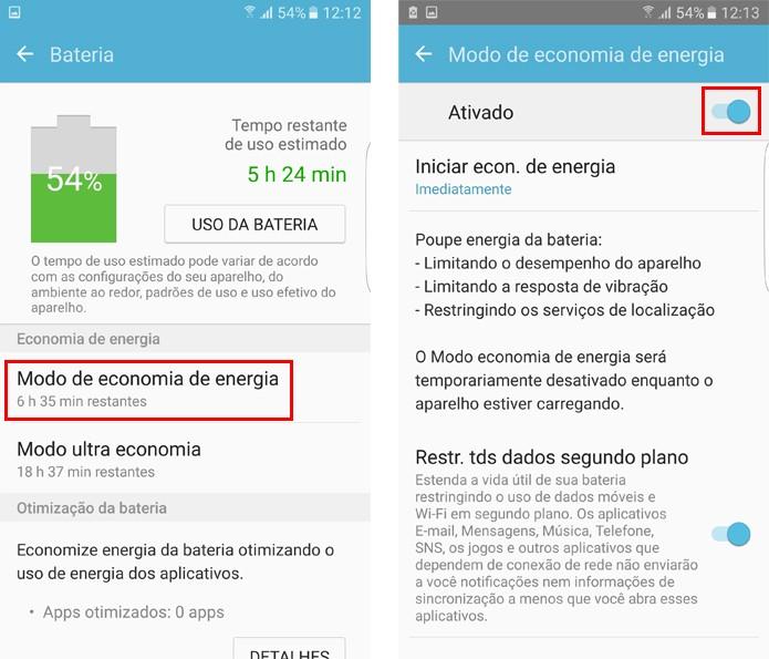 Ative a economia de energia no Galaxy S7 (Foto: Reprodução/Aline Batista)