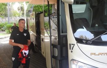 São Paulo deixa hotel em Acapulco e segue em voo fretado para Toluca