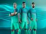 Barcelona lança terceiro uniforme e aposta em diferentes tons de verde