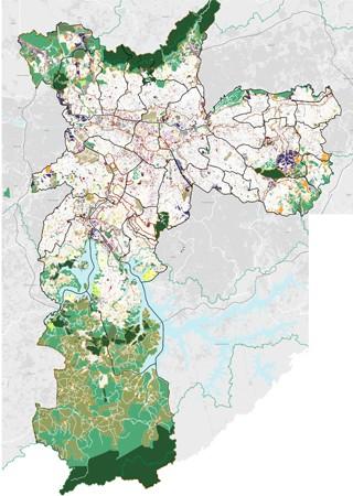 Mapa geral do zoneamento (Foto: Reprodução)