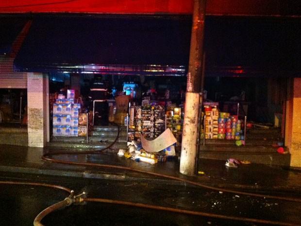 G1 Inc u00eandio em loja de armarinhos em SPé controlado, dizem bombeiros notícias em S u00e3o Paulo
