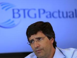 Presidente e controlador do banco BTG Pactual, André Esteves, durante entrevista em São Paulo, no ano passado (Foto: REUTERS/Nacho Doce)