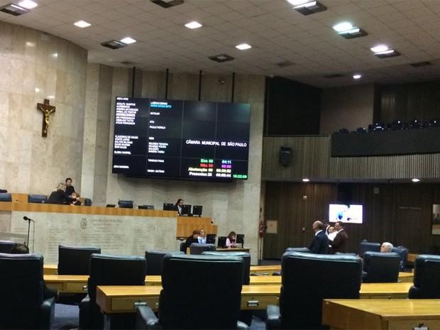 Cadeiras da Câmara Municipal de SP (Foto: Roney Domingos / G1)