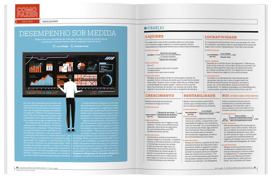 Reportagem de PEGN mostra como os indicadores certos podem fazer a empresa prosperar (Foto: Reprodução)