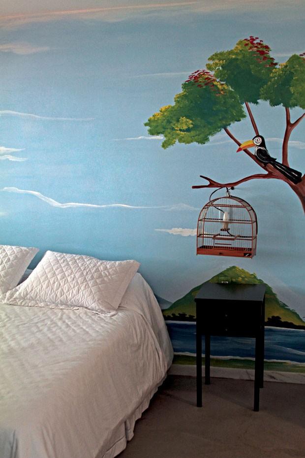 Detalhe de um quarto do Oztel, um albergue com design (Foto: Bruno Simões)