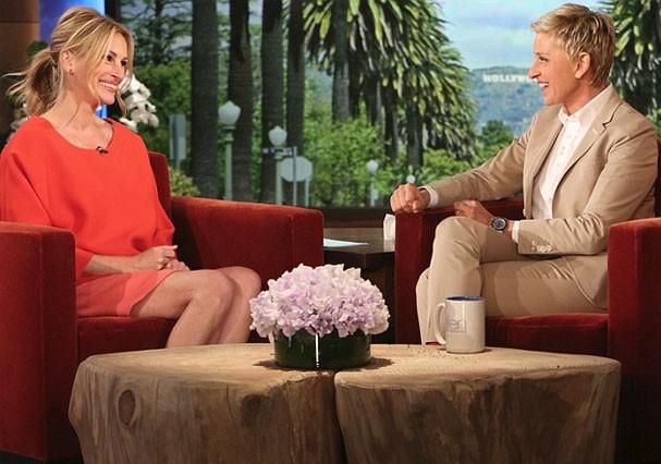Julia Roberts durante entrevista a Ellen DeGeneres (Foto: Divulgação)