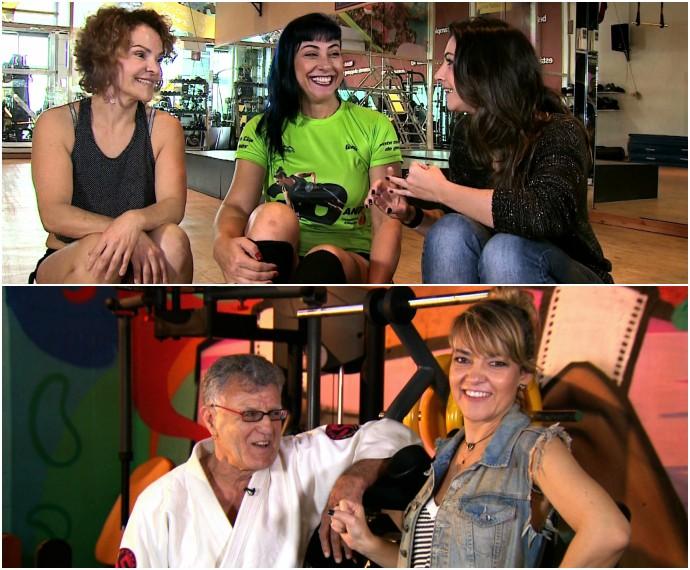 Sarados Mistura com Rodaika Cris Silva Judo Pole Dance João Neri Heloísa Soares (Foto: Montagem sobre fotos de Reprodução/RBS TV)