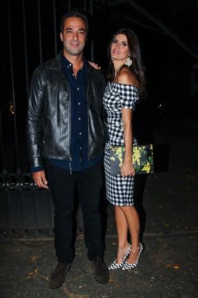 Isabella Fiorentino e o marido em evento em São Paulo (Foto: Manuela Scarpa/ Foto Rio News)