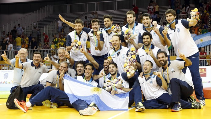 Argentina ouro vôlei pan-americano 2015 (Foto: Kevin Hoffman/Reuters )