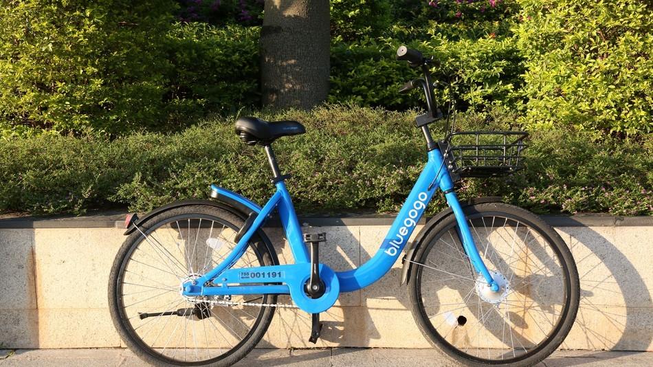 Bicicleta da Bluegogo, empresa chinesa de compartilhamento de bikes (Foto: Reprodução/Mashable)
